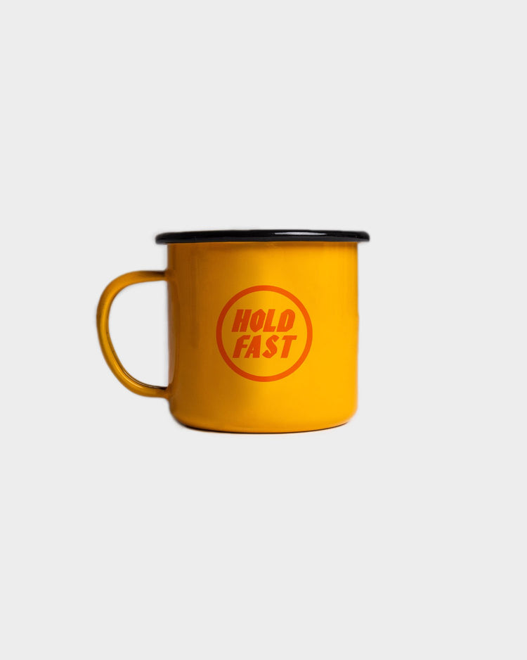 Hold Fast Adventure Enamel Mug