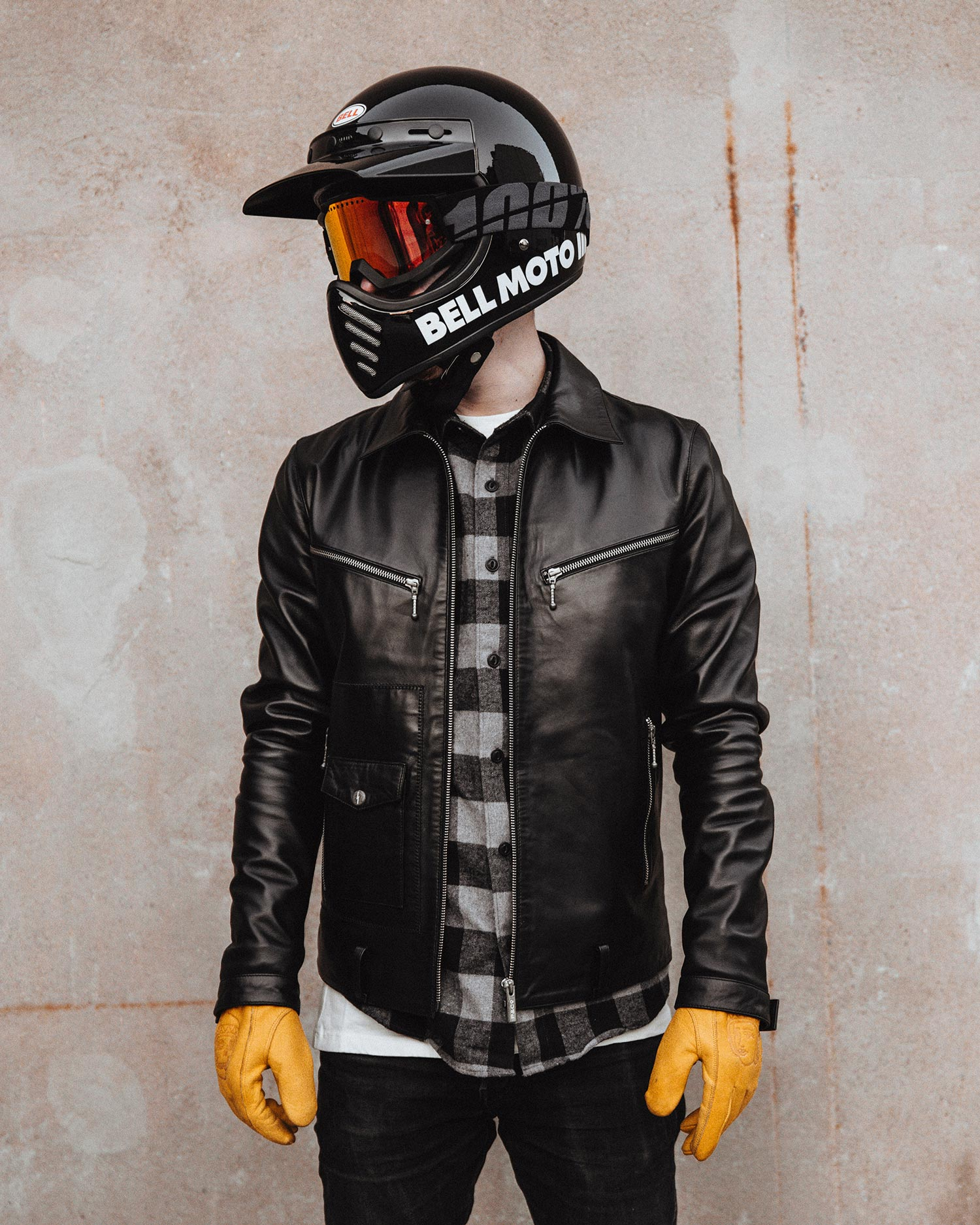 Dresden Leather Biker Jacket Lifestyle