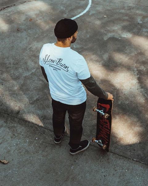 Palm Slow Burn Skateboarding Tshirt For Men