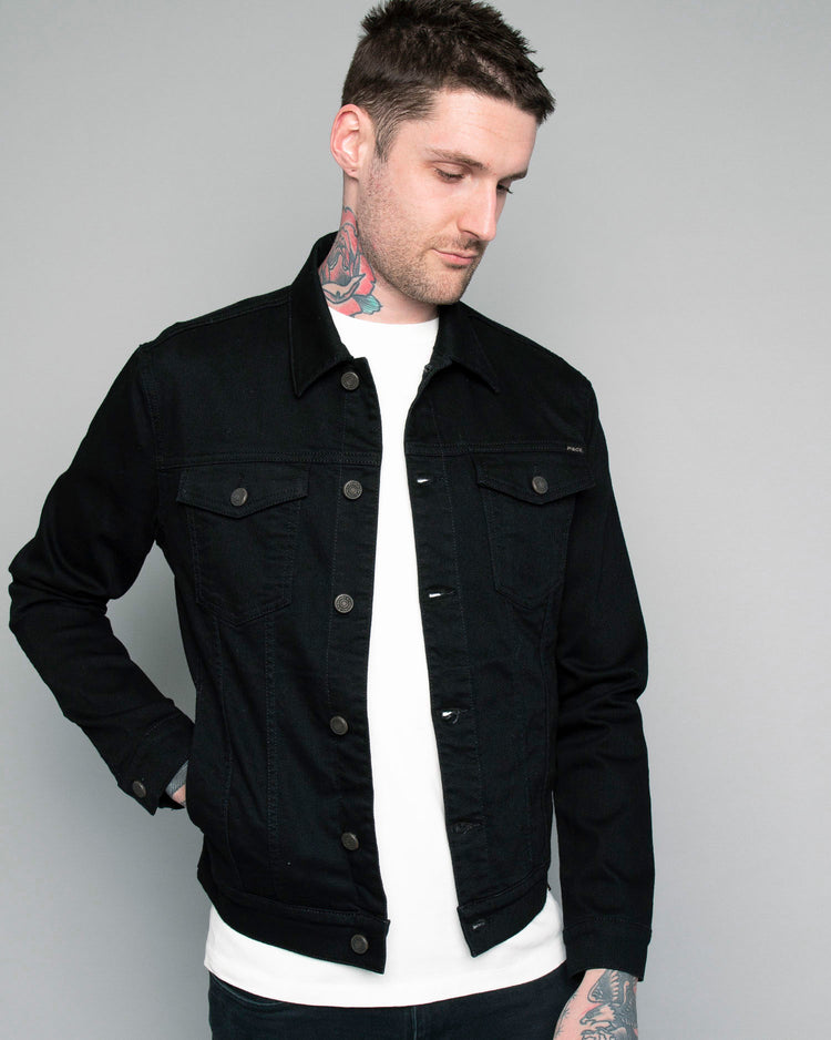 Mens Origin Black Denim jacket
