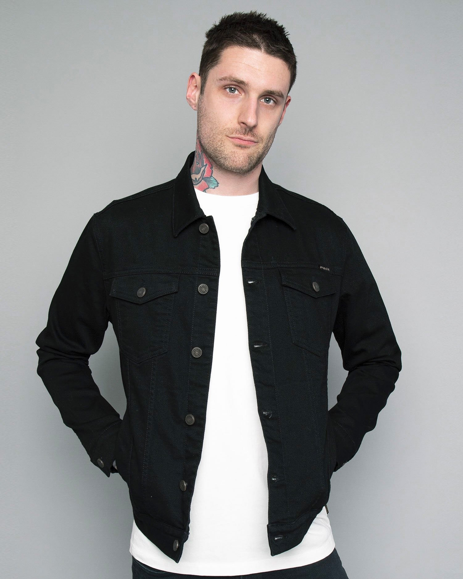 Origin Mens Black Denim jacket