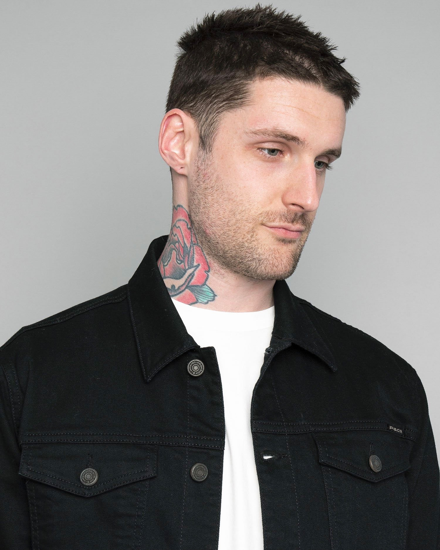 Origin Black Denim jacket for Men