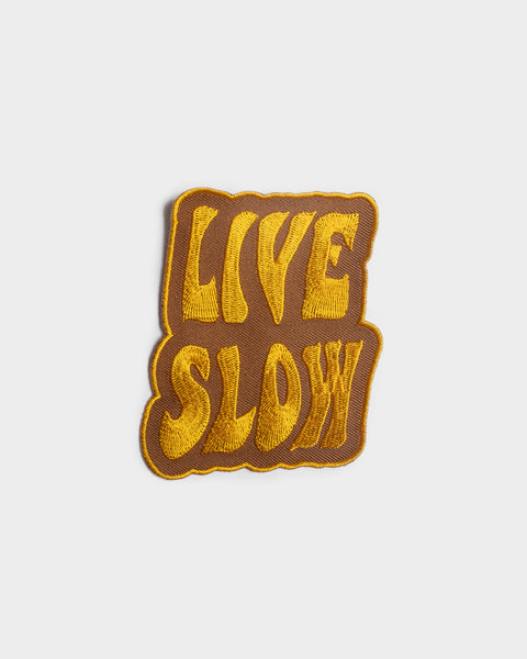 Live Slow Patch For Denim Jackets