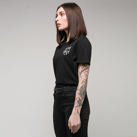 P&Co - Black Womens T-Shirt Live Fast Wolf - Provision & Co