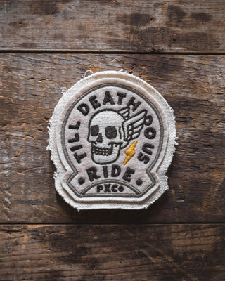 Till Death Do Us Ride Canvas Patch