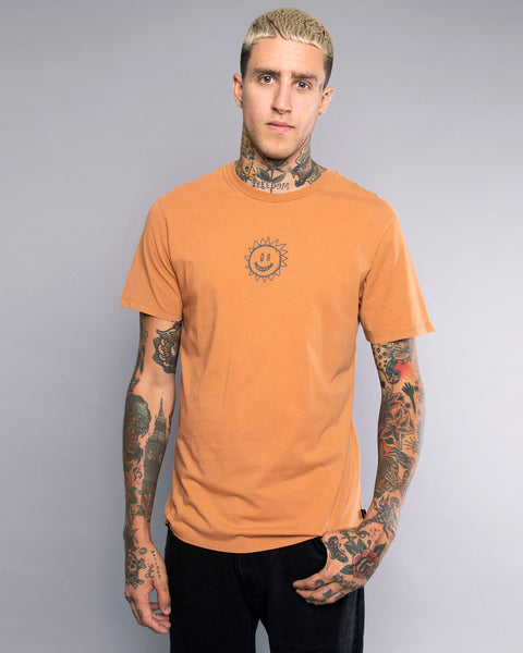 Mens Wise Guys Rust Tshirt