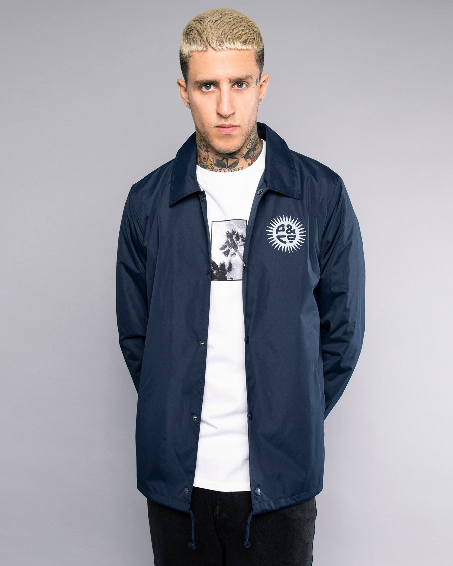 Keepin' On Mens Ink Blue Coach Jacket