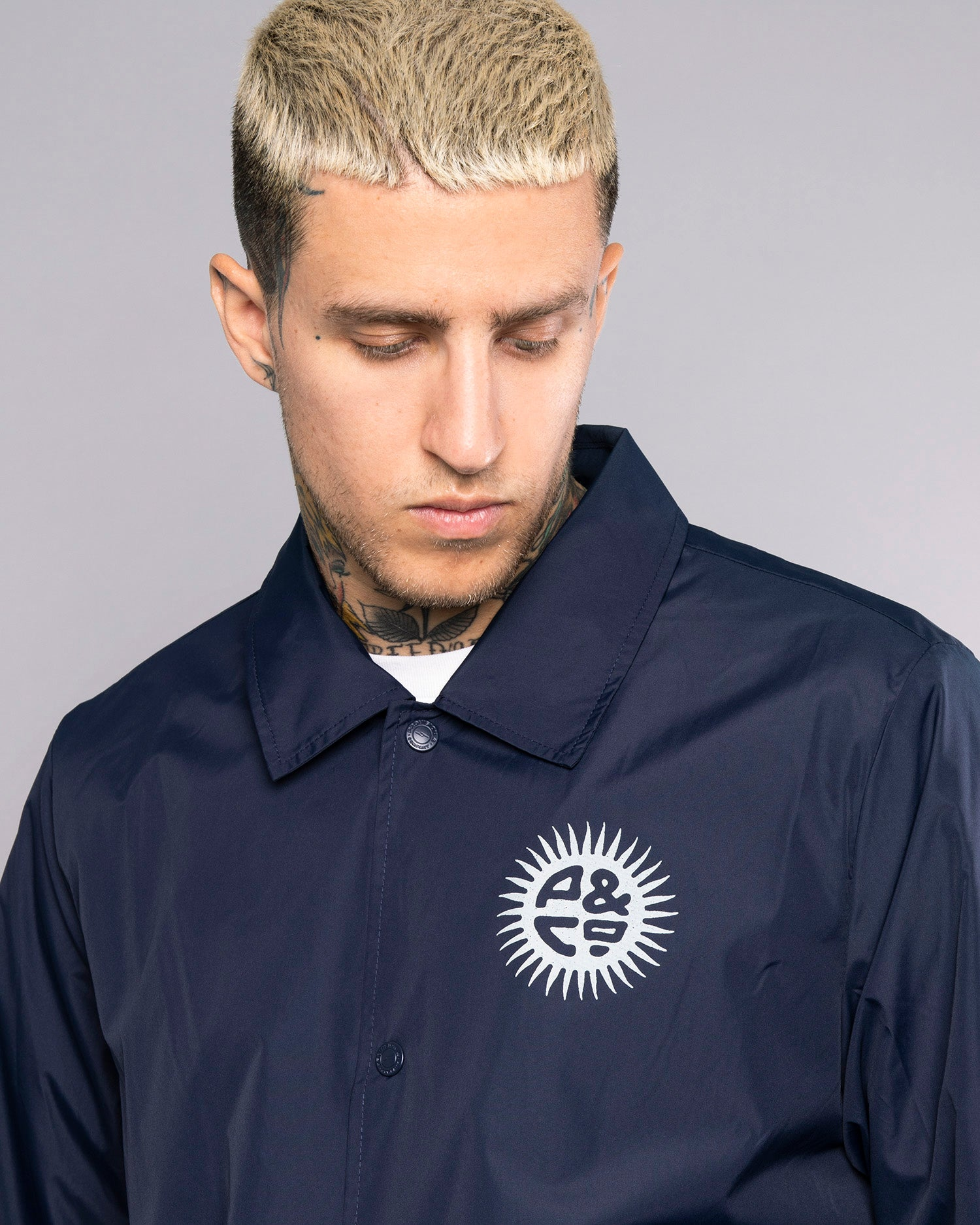 Mens Keepin' On Blue Coach Jacket