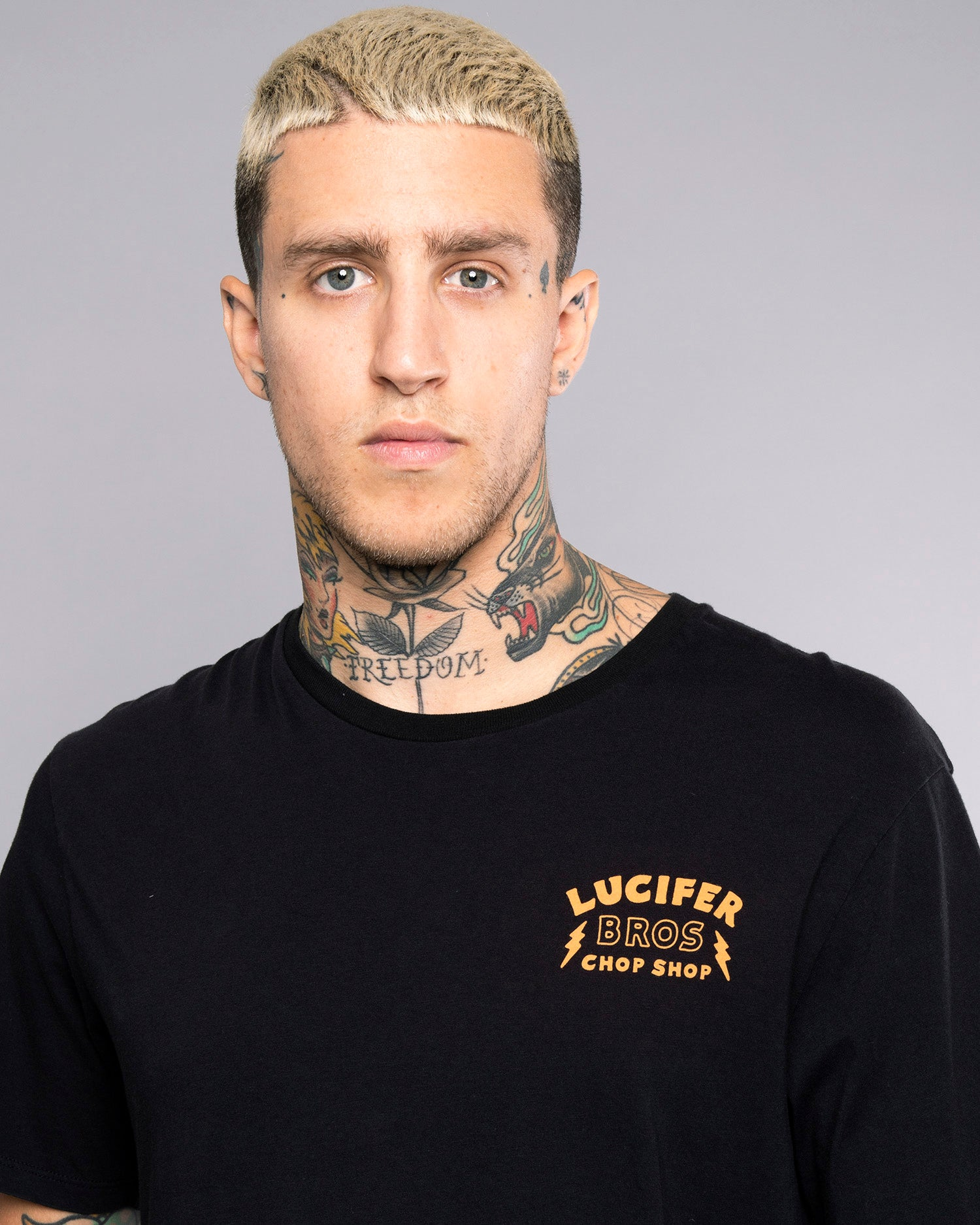 Lucifer Bros Black Printed Tshirt