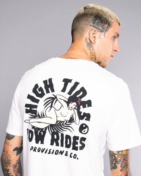 High Tides Low Ride Surfer Tee