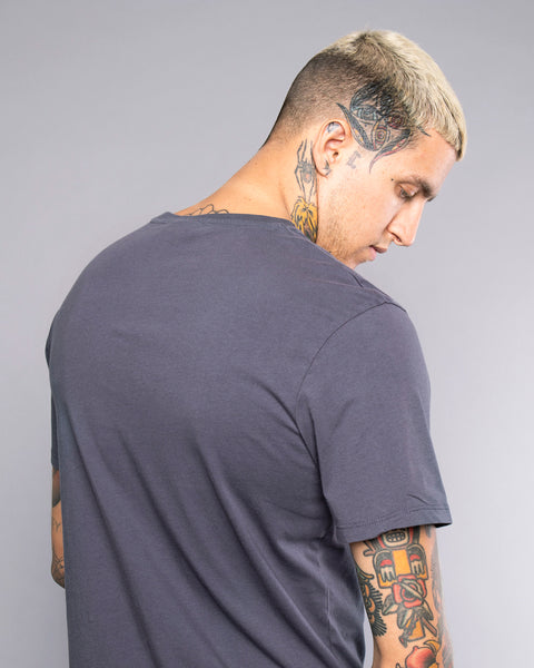 Scorpio Mens Navy Embroidered Tee
