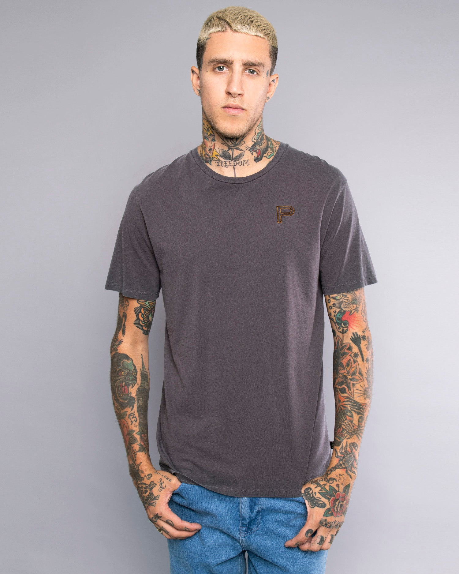 Mens Bad Vibes Grey T-Shirt