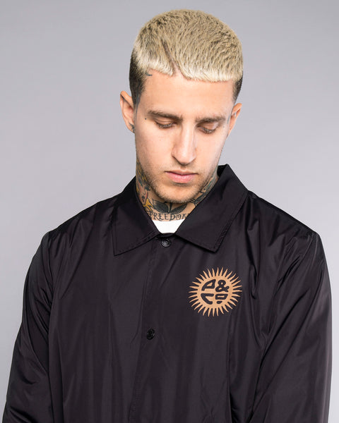 Keepin' On Mens Ink Black Coach Jacket