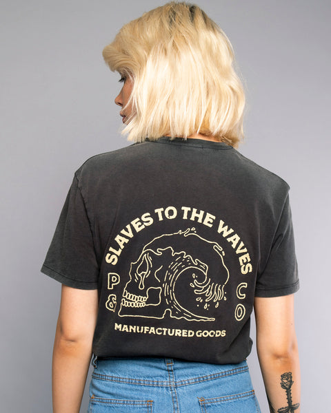 Slaves To The Waves Womens Dark grey Tshirt
