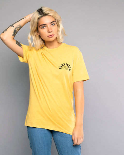 Womens Yellow Printed Tshirt