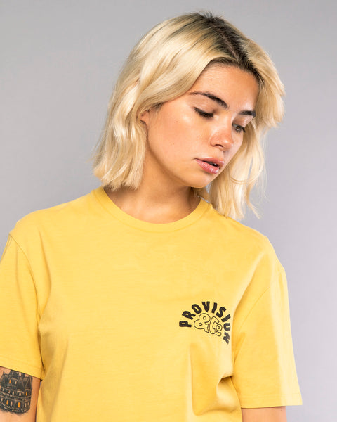 Womens Printed Yellow Surfer Tshirt