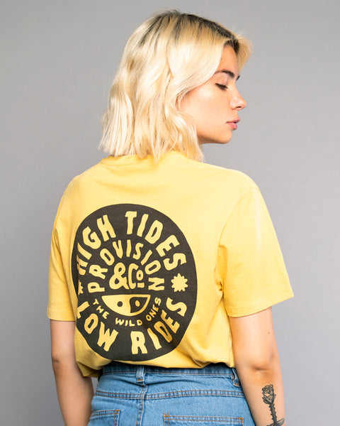 High Tides Womens Yellow Tshirt