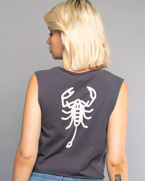 Scorpio Womens Grey Tank Top