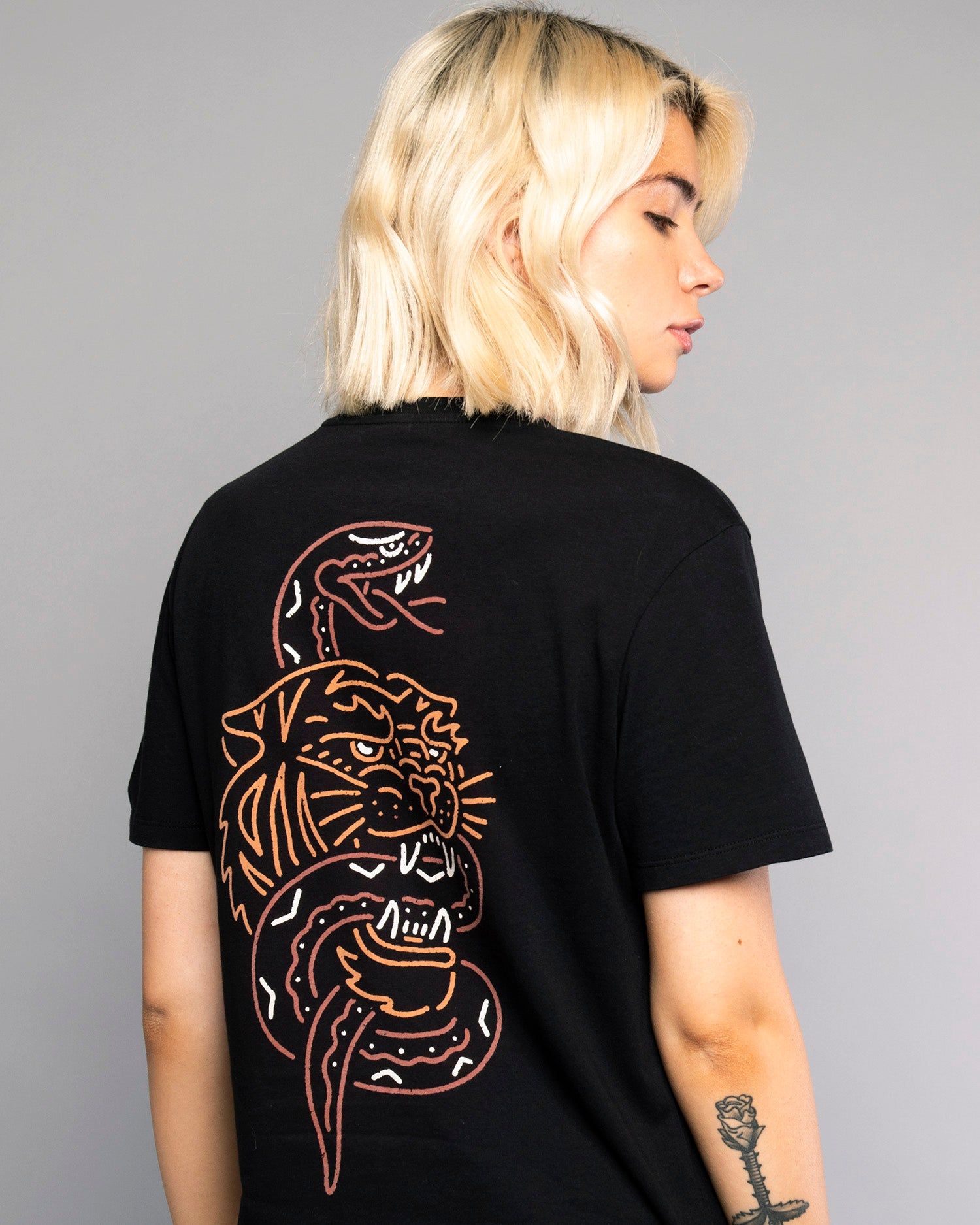 Womens Snakebite Black Tee