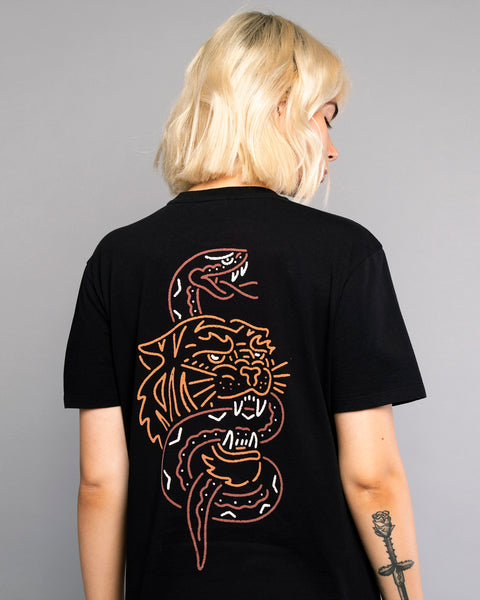 Womens Snakebite Black Traditional Style Tshirt