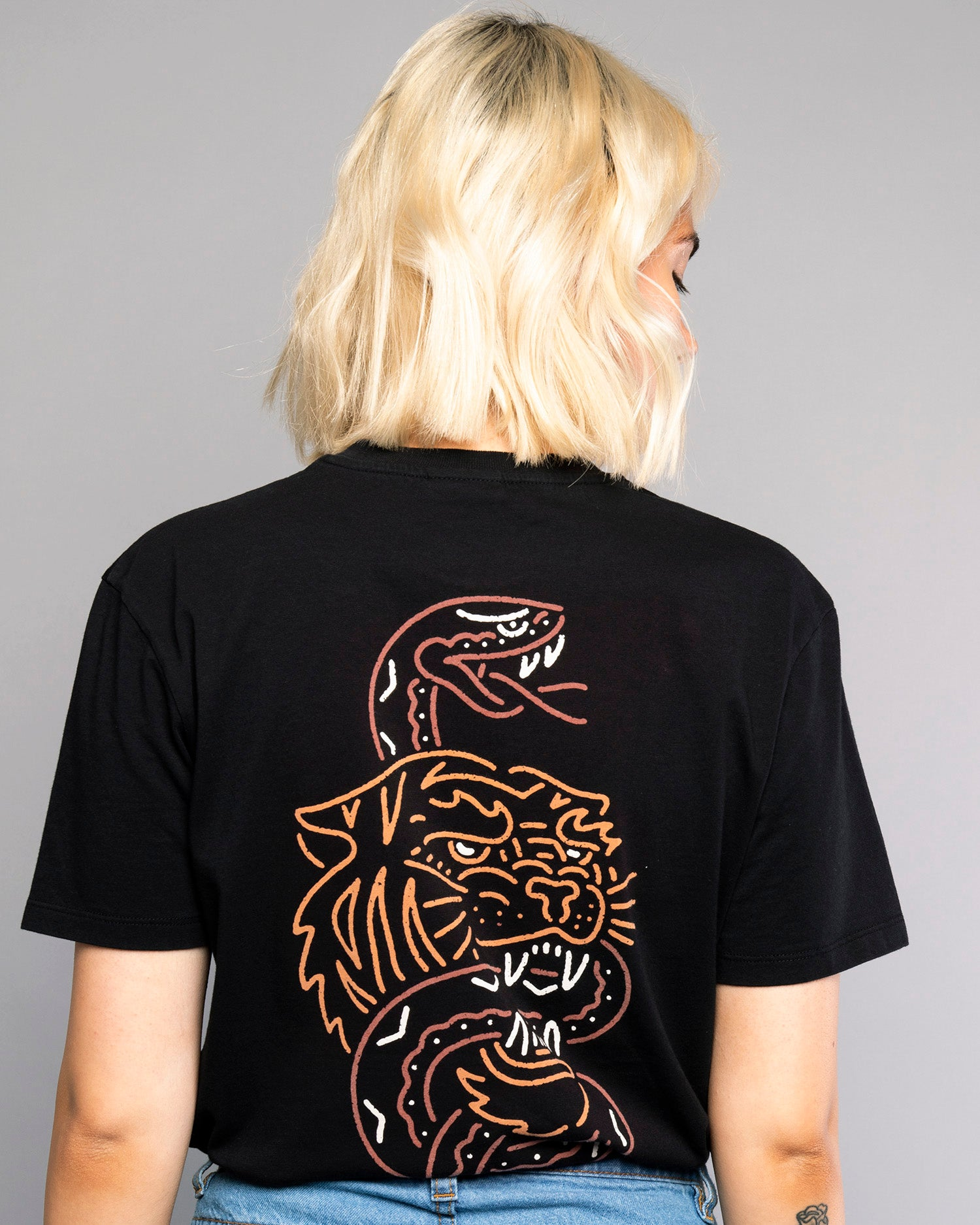 Womens Snakebite Black Traditional Style Tee