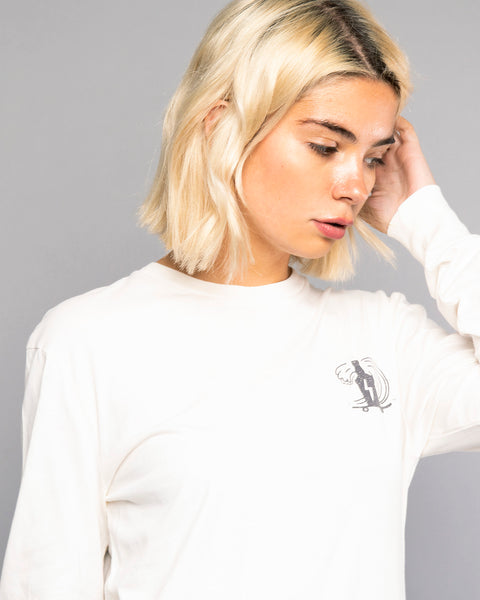 Womens So Far So Good White Long Sleeve Tshirt