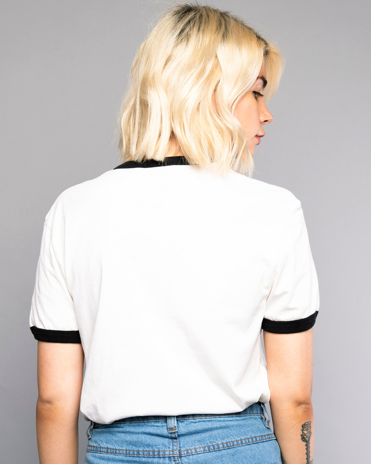 Thrills Womens White Ringer Tshirt