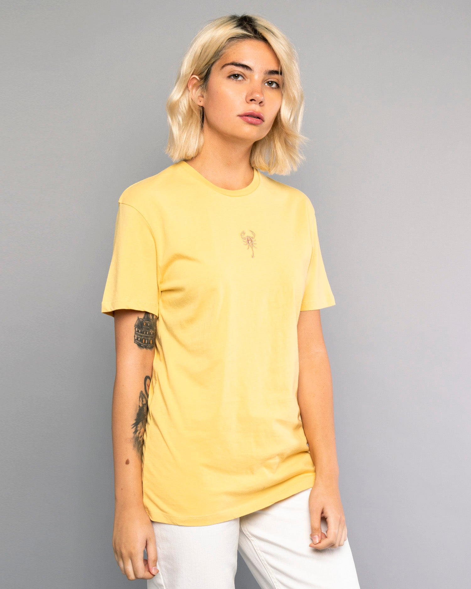 Scorpio Womens Yellow Tshirt