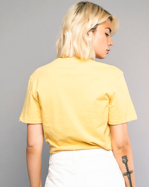 Scorpio Womens Yellow Tucked In Tshirt