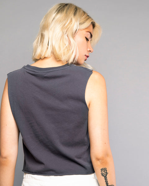 Zodiac grey Cropped Tank Top