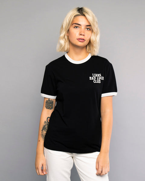 Liars Womens Black Ringer Tshirt