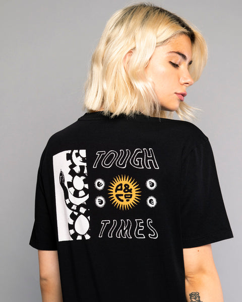 Tough Times Womens Black Crew Neck Tshirt