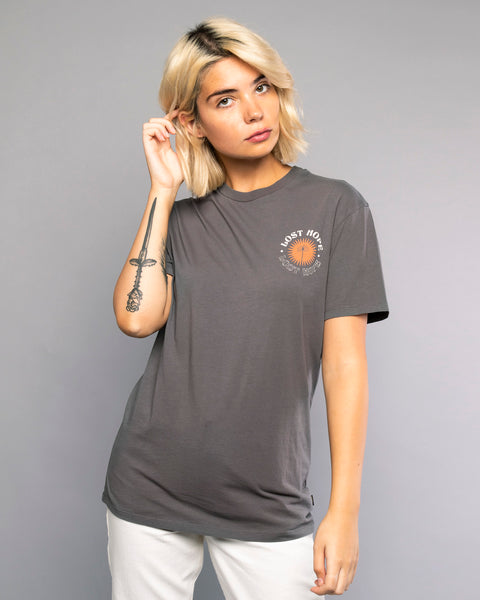 Lost Hope Womens Grey T-Shirt
