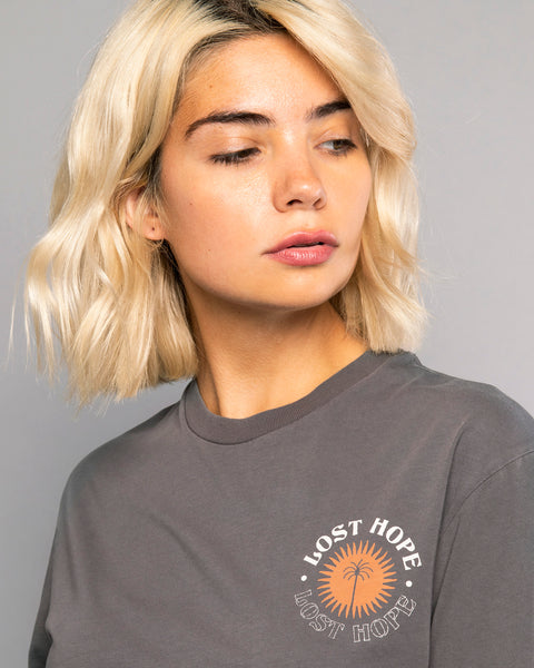 Lost Hope Grey Womens T-Shirt