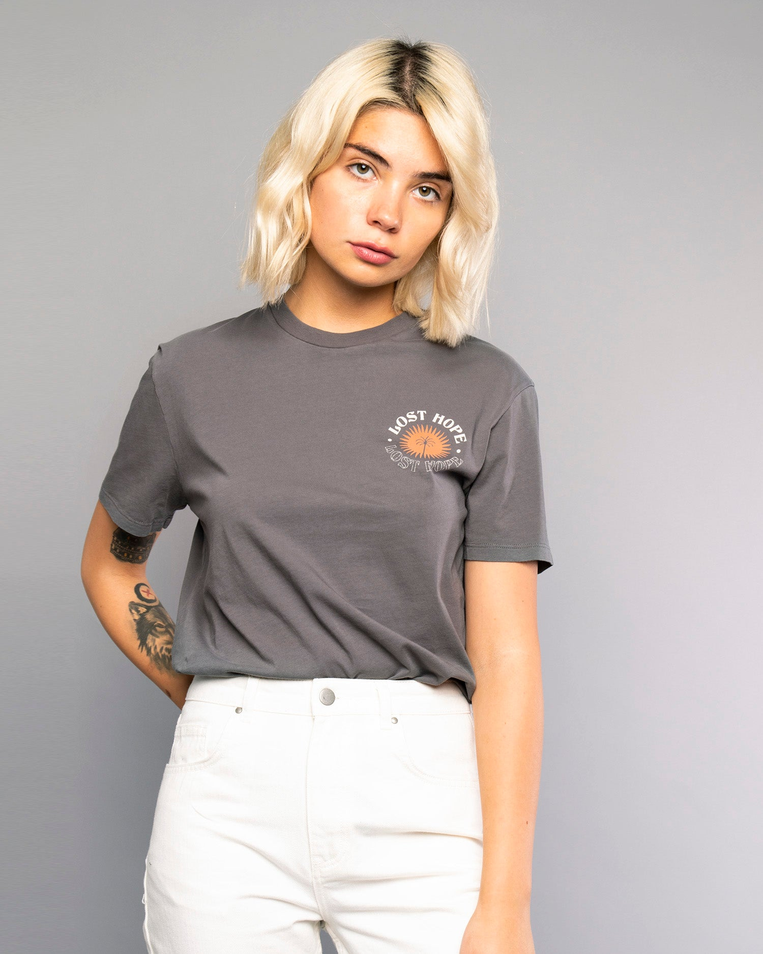 Womens Lost Hope Grey T-Shirt