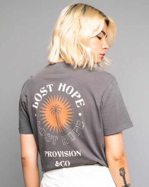 Womens Lost Hope Grey Tee