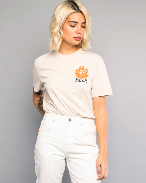 Dancing Flames Womens Oatmeal Tee