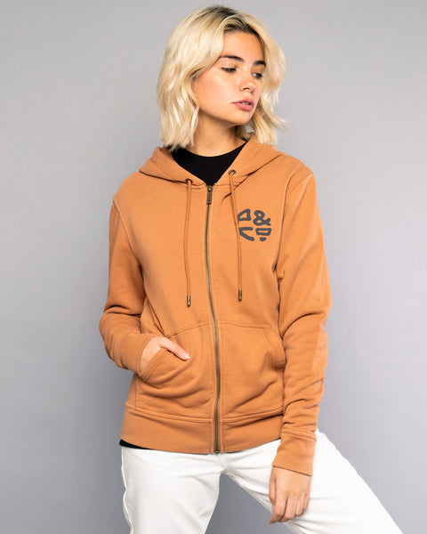 Logo Womens Zip Up Hoodie