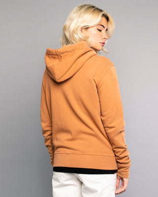 Logo Womens Rust Zip Up Hoodie