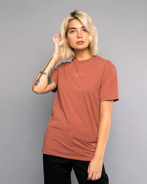 Womens Provisions For The Wild Burnt Red Tee