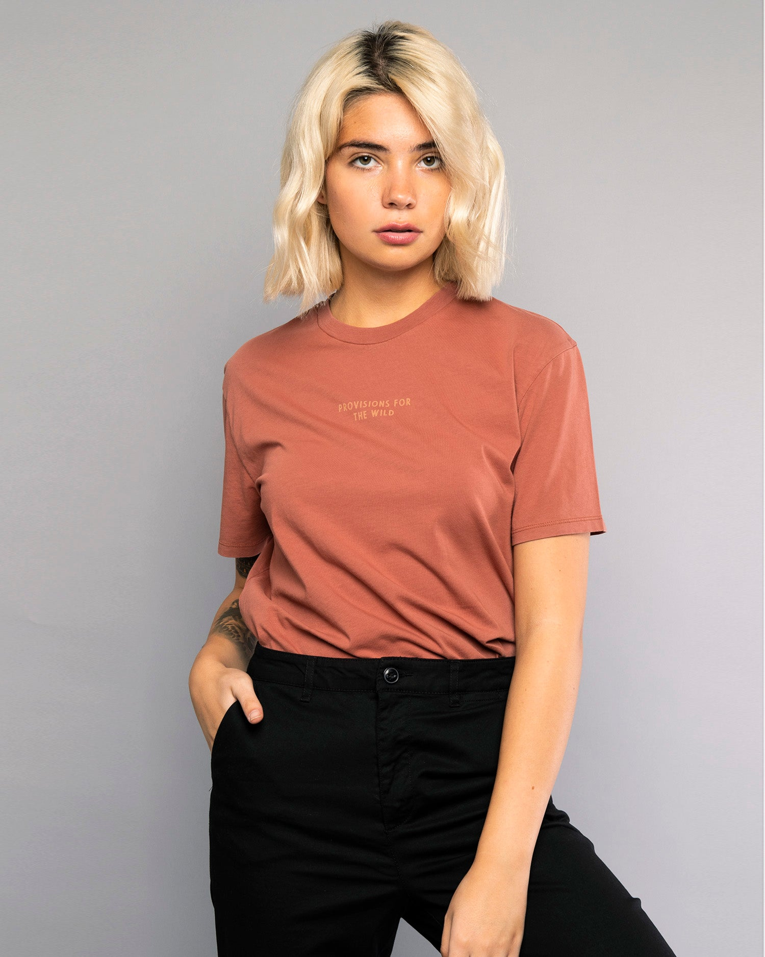 Womens Provisions For The Wild Burnt Red Tshirt