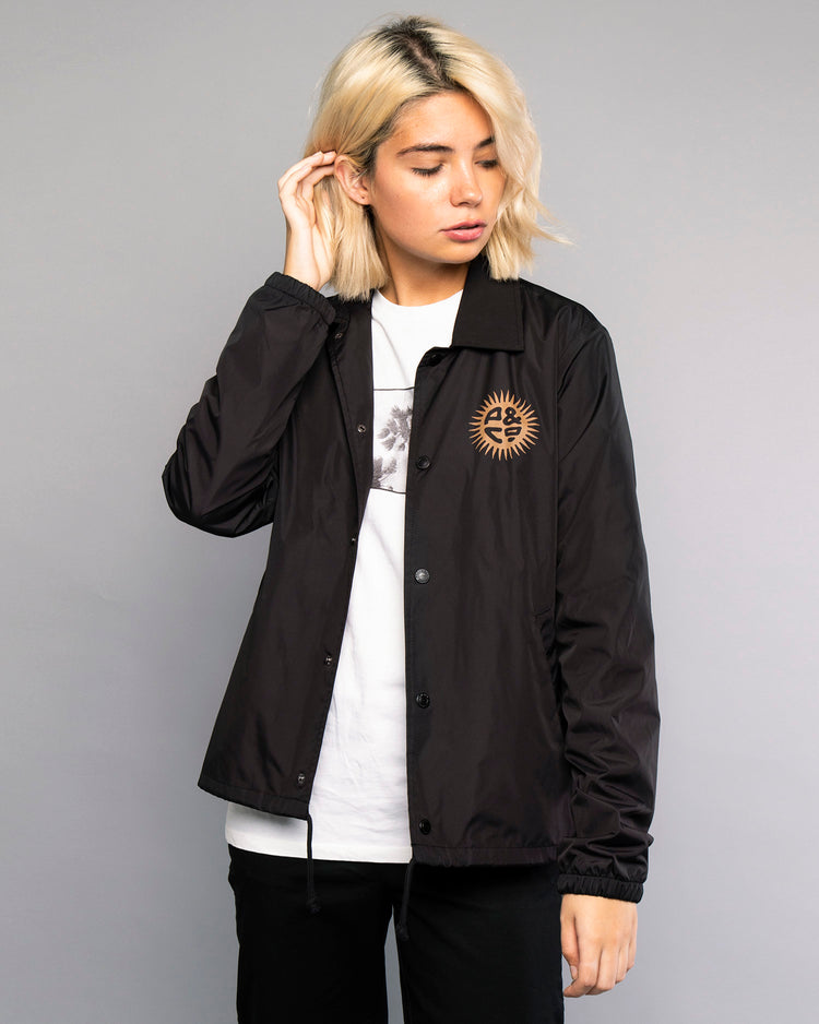 Womens Keepin' On Black Coach Jacket