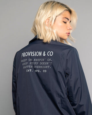 Keepin' On Womens Ink Blue Coach Jacket