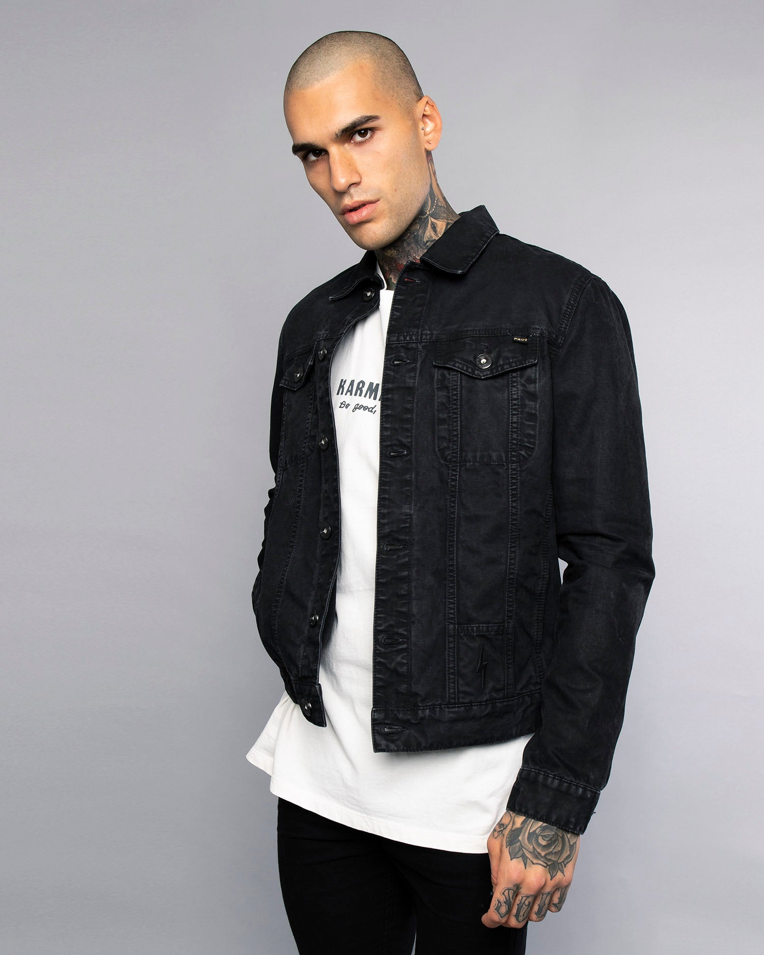 Core Waxed Black Canvas Jacket