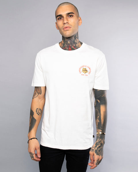 Hold Fast Mens Vintage White Tiger T-Shirt