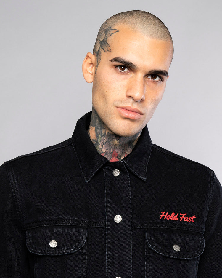 Mens Hold Fast Black Overshirt