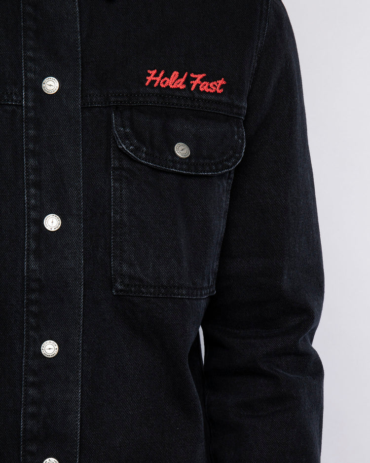 Mens Hold Fast Embroidered Overshirt