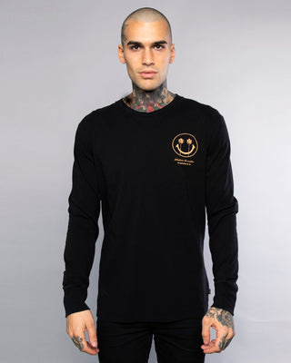 Mens Whatever The Weather Black Long Sleeve Tee