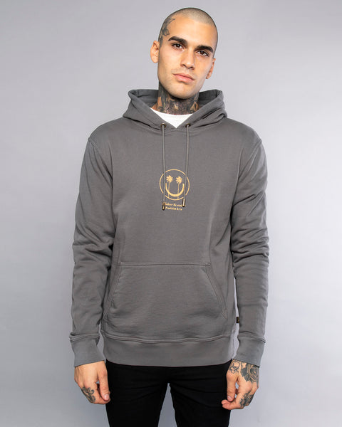 Whatever The Weather Mens Grey Pullover Hoodie