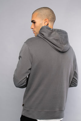 Whatever The Weather Mens Dark Grey Pullover Hoodie